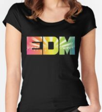 EDM Rainbow Women's Fitted Scoop T-Shirt