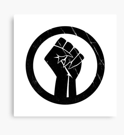 Black Panther Power Canvas Print