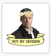 Lestrade Not My Division Sticker