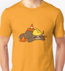 Road Worker Sloth Slim Fit T-Shirt