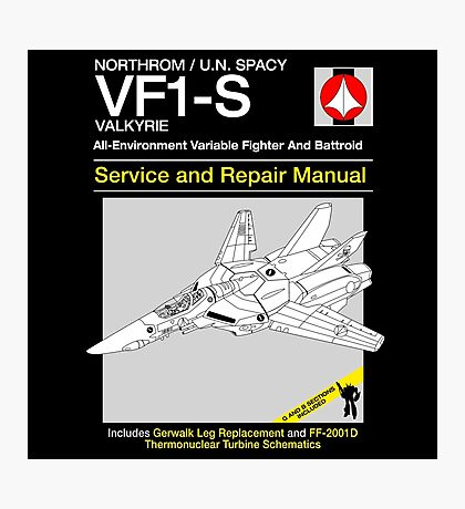 VF-1 Service and Repair Photographic Print