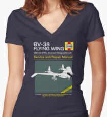 BV-38 Raiders Service and Repair Manual Women's Fitted V-Neck T-Shirt