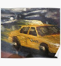 NYC taxi Yellow taxi Poster