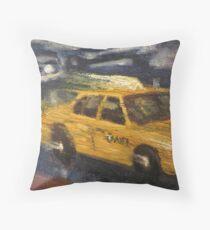 NYC taxi Yellow taxi Throw Pillow