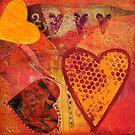 Happy Hearts orange by artsandsoul