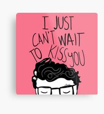 I just can't wait to kiss you ♥ Metal Print