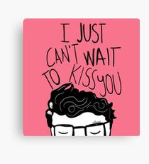 I just can't wait to kiss you ♥ Canvas Print