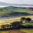 Val DOrcia, morning panoramic by Vicki Moritz