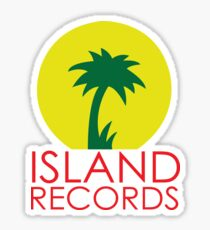 Island records Jamaica  Sticker