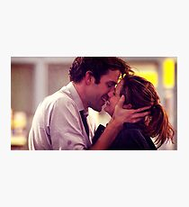 Jim and Pam proposal kissing Photographic Print