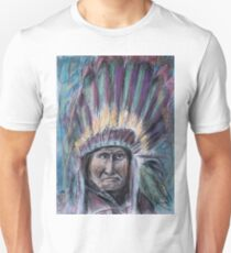 Geronimo with headdress colorful pastel Unisex T-Shirt