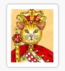 King Cat Sticker