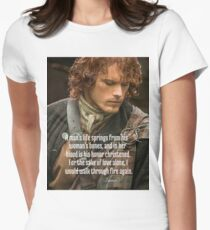 Outlander/Jamie Fraser/Quote from Diana Gabaldon Women's Fitted T-Shirt