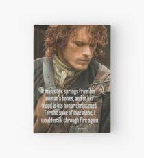Cuaderno de tapa dura Outlander / Jamie Fraser / Cita de Diana Gabaldon