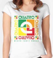 Quatro Women's Fitted Scoop T-Shirt