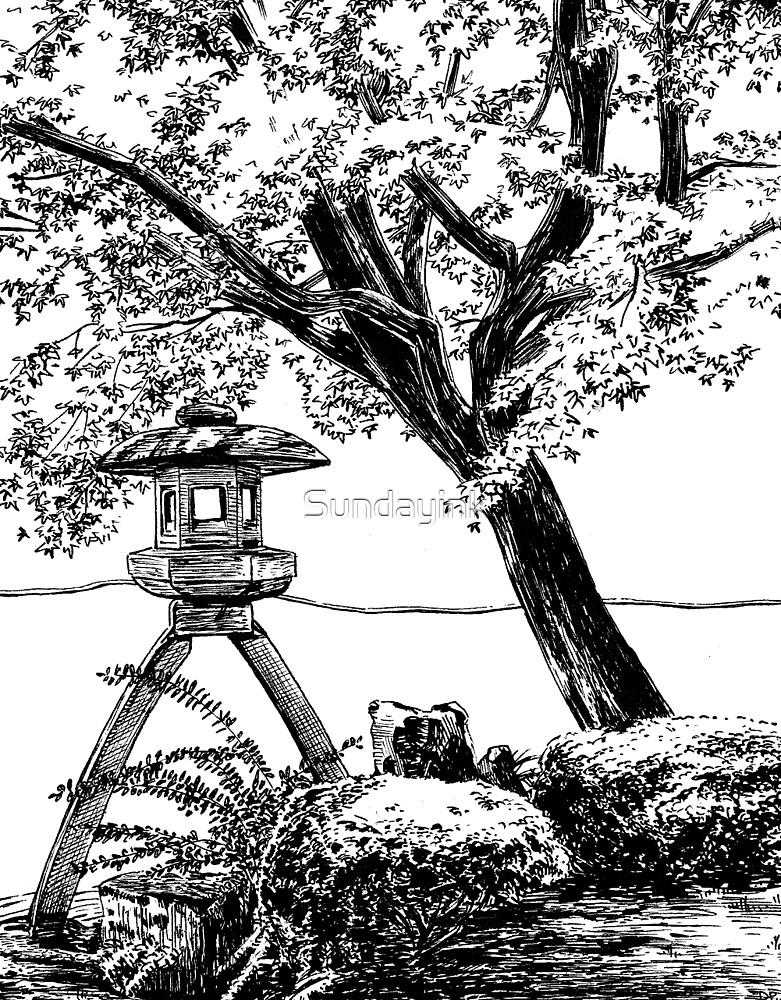 Stone Lantern 1, Kanazawa by Sundayink