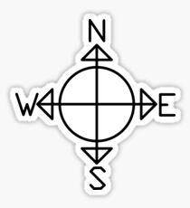 Simple Compass Sticker