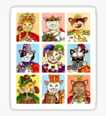 The Royal Court of Cats Sticker