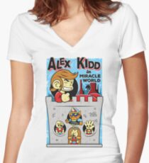Alex Kidd in Miracle World Women's Fitted V-Neck T-Shirt
