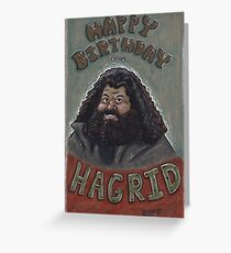 Happy Birthday from Hagrid Greeting Card