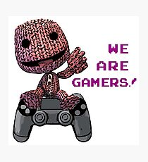 Inspired by Sackboy of Little Big Planet Photographic Print