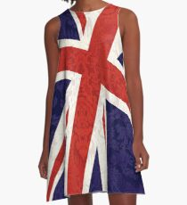 Flying Union Jack A-Line Dress