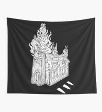 Church Fire Wall Tapestry