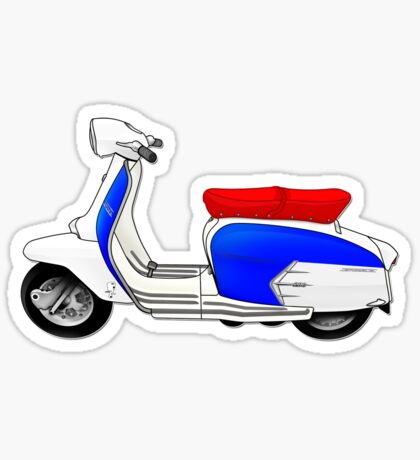 Scooter T-shirts Art: SX200 Dealership Blue Scooter Design Sticker