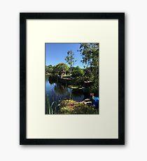 Lazy Asian Riverside Framed Print
