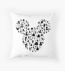 Character Mickey Silhouette  Throw Pillow