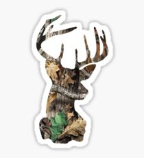 Camo Deer Head Sticker