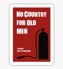 No Country For Old Men film poster Sticker