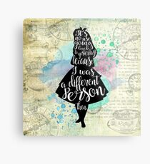 Alice - I Was A Different Person Then Metal Print