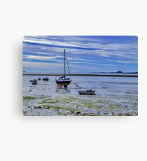 Awaiting The Tide Canvas Print