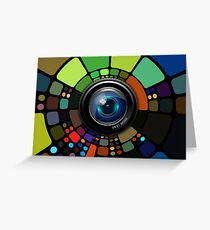Camera Lens Graphic Design Greeting Card