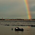 Rainbow above the Kiel Fjord by jchanders