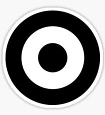 Black and white target Sticker