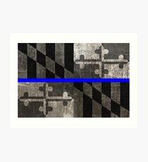 Maryland Thin Blue Line Art Print