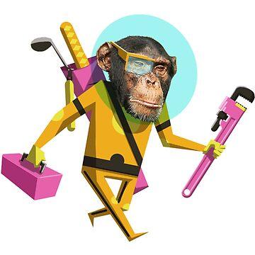 Chimp Engineer Miles OBrien by kyle-sans-kyle