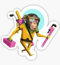 Chimp Engineer Miles OBrien Sticker