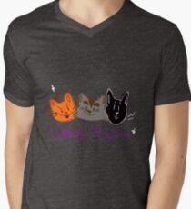 Warrior Cats - Das ursprüngliche Trio T-Shirt mit V-Ausschnitt für Männer