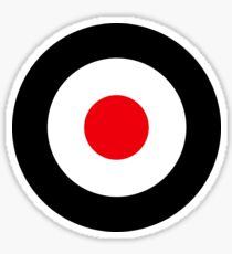Vespa aviation mod Sticker