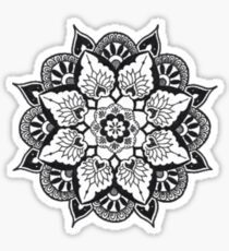 B&W Mandala: Merch Sticker