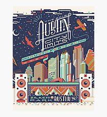 Lámina fotográfica Límites de la ciudad de Austin