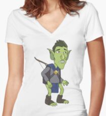 HarmonQuest: Boneweevil Women's Fitted V-Neck T-Shirt