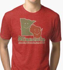 Minnesota Spooning Wisconsin Tri-blend T-Shirt