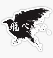 Haikyuu Crow Fly Sticker