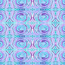 Watercolor Purple Turquoise Swirl Repeating Pattern by Beverly Claire Kaiya