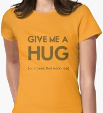 Beer Hug Womens Fitted T-Shirt