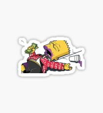 Lean Head Bart Sticker